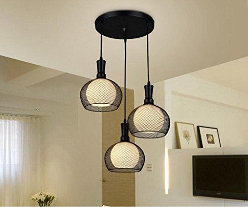 Tiffany Natur Rose (Sai Tai@LED Pendelleuchte Höhenverstellbar Küchen Deckenleuchte Wohnzimmer Designleuchte Deckenlampe Schlafzimmer Modern ,schwarz,Eisen,55cm*100cm)