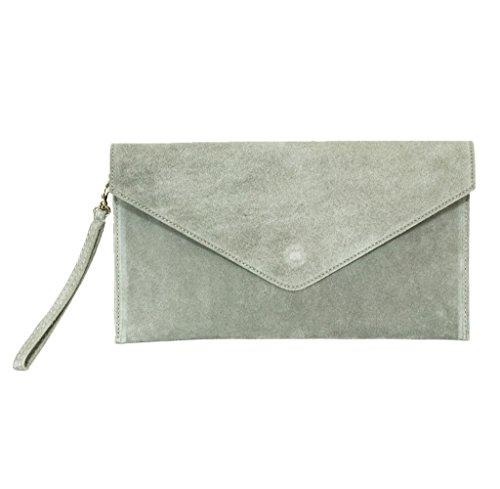 Big Handbag Shop , Damen Clutch One, Blau - Blu (Blu navy) - Größe: One Size hellgrau