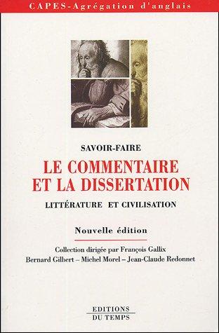 Le commentaire et la dissertation : Litt...