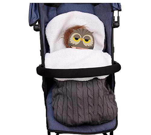 Imagen para LXGKREL - Saco de Dormir para bebé (Suave, para recién Nacidos de hasta 12 Meses, Todas Las Estaciones) Gris Oscuro
