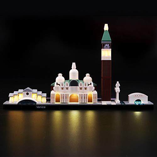 LIGHTAILING Conjunto de Luces (Architecture Venice) Modelo de Construcción de Bloques - Kit de luz LED Compatible con Lego 21026 (NO Incluido en el Modelo)
