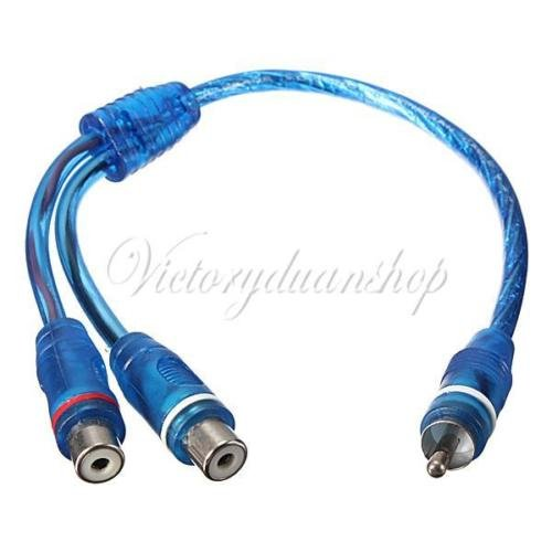 Generic YC-UK2–151124–81< 1& 5334* 1> Reo Ampr 2x Femal Adaptador Divisor En Y 2x RCA hembra a 1x macho plomo Cable par en estéreo de coche amplificador RCA y Split