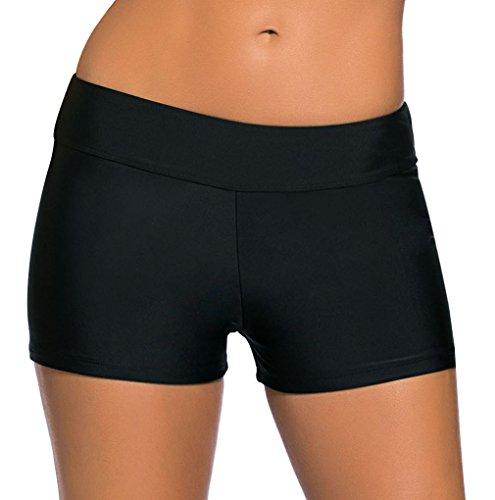 La vogue Damen Badeshorts Bikinihose Beach Shorts Hotpants Schwarz S Taille 72-80cm