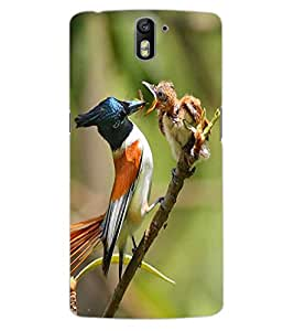 ColourCraft Bird Design Back Case Cover for OnePlus One