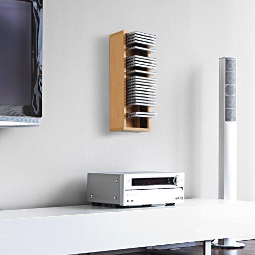 Jago CD-Regal CD-Wandregal CD Ständer mit Platz für 32 CDs in drei verschiedenen Farben