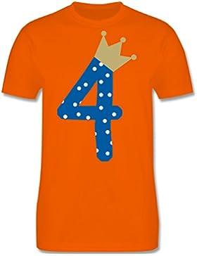 Geburtstag Kind - 4. Geburtstag Krone Junge - Kinder T-Shirt