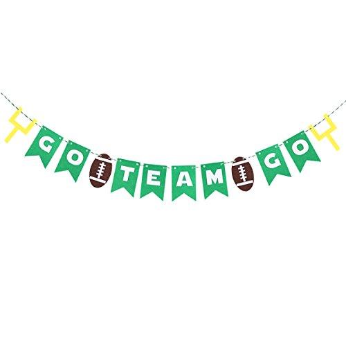 EHEN Fußball Party Banner Rugger Bunting Garland Super Bowl Dekoration 12 Flaggen Für Rugby Spiel Geburtstag Party Decor ()