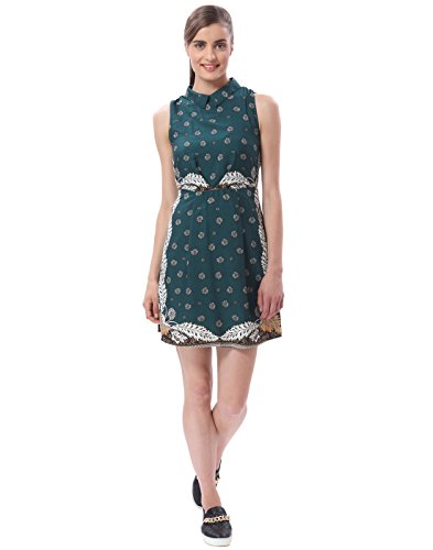 Vero Moda Women's Green Coloured Party Dress (10144384-BotanicalGarden_Green_X-Small )