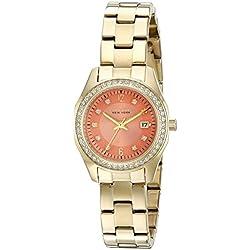 Caravelle New York Women's Quartz Stainless Steel Dress Watch (Model: 44M110)