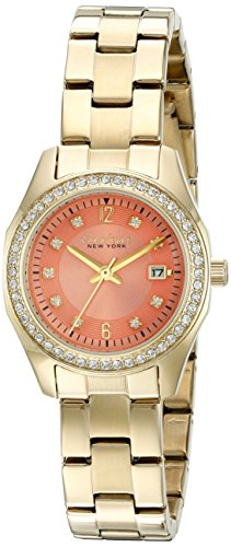 Caravelle New York Women's Quartz Stainless Steel Dress Watch (Model: 44M110)