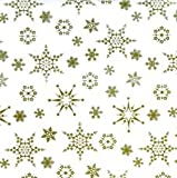 Gold Christmas Snowflake Cellophane Wrap – 10m x 80cm