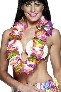 Smiffys Collar Hawaiano,, Grandes Flores Brillantes