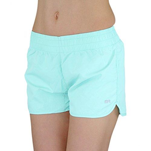 Badeshorts Damen Boardshorts Strandshorts Beach Shorts Kurz Lässige Sommershorts Hotpants (38 / M, Muster 1 - Blau)
