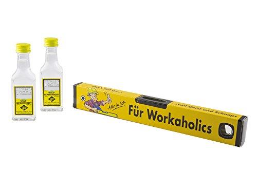Weisenbach - Wasserwaage (Kartonage) - 'Workaholic' - 2 x 20 ml Waldhimbeergeist