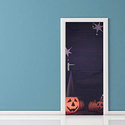 Loui's Home Halloween Geist Kürbis Tür Aufkleber DIY Dekoration 3D Wohnzimmer Schlafzimmer Selbst Aufkleber Wandaufkleber