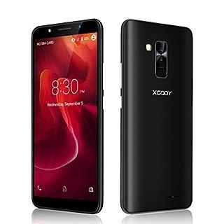 Xgody SIM Free Mobile Phones, Y26 (2018) Android GO 8.1, Dual SIM Unlocked Smartphone 6 Inch IPS Display- 2800mAh Battery - 8MP+5MP Dual Cameras - Bluetooth - GPS - 3G Mobile Phone (Black)
