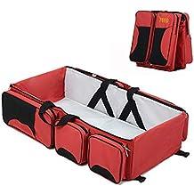 bolsa pañales rojo - Amazon.es
