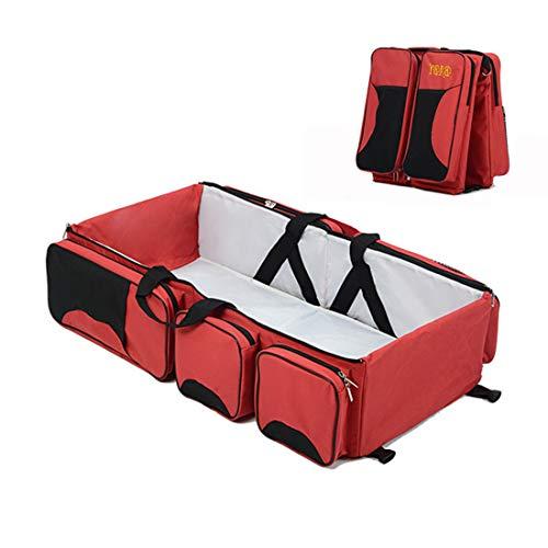 MIWORM Matelas à langer multifonction universel 3 en 1 pour bébé, sac à langer, bassinet de voyage pliable, parc pour bébé