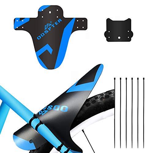 ODSPTER Schutzblech MTB Fahrrad, Vorne Hinten Schutzbleche Mountainbike Fahrrad Spritzschutz mit Kabelbinder für 26-29 Zoll Mud Guard-MTB (blau 2 Stück)