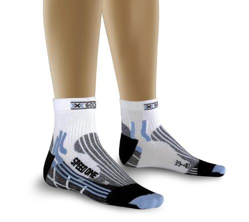 X-Socks Damen Socken Speed One Lady, white/sky blue, 2, X 20236 -