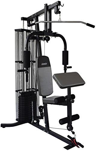 Gregster Kraftstation / Homegym mit 55 kg Gewichtsplatten, inkl. Brustpresse, Butterfly und Lat-Zug ideal für das Muskeltraining zuhause