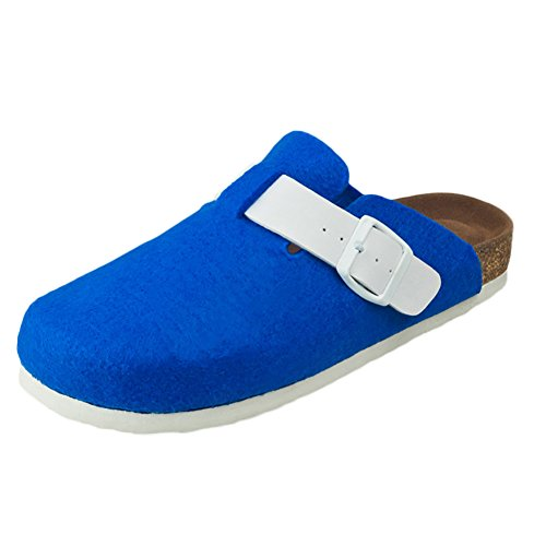 SK Studio Donna Pantofole di Sughero Sabot Sandali Bassi Chiusi in Punta Ragazza Scarpa Senza Tacco Blu