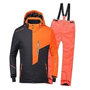 Z&X Skijacke – Wasserdichter Skianzug Schneeanzug Winterskifahren Kinderskijacke und -Hose Set-Geeignet für Snowboarden, Bergsteigen – Mehrfarbig