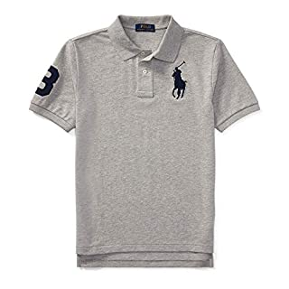 Ralph Lauren - Cotton Mesh Polo Shirt - 6 to 14 Years Old Boys - Andover Heather (X-Large)