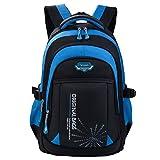 Schulrucksack Jungen, Fanspack Schulranzen Jungen Schultaschen Jungen Schulranzen Blau Rucksack Backpack Rucksäcke (Blau)
