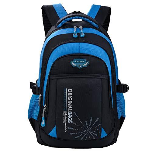 Schulrucksack Jungen Teenager, Fanspack Schulranzen Jungen Rucksack Jungen Teenager Backpack Rucksäcke School Bag Schultasche Tasche Travel Sport Outdoor Rucksack für Schüler