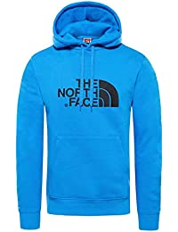 The North Face Drew Peak Sudadera, Hombre, Azul (Bomber Blue/TNF Black