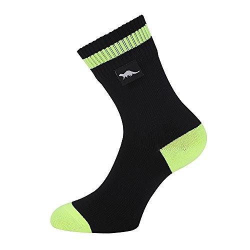 OTTER Wasserdichte atmungsaktive Socken Geeignet für Outdoor-Aktivitäten wie Golf, Laufen, Radfahren, Bergwandern und Wandern. (Schwarz, Groß (43-46))