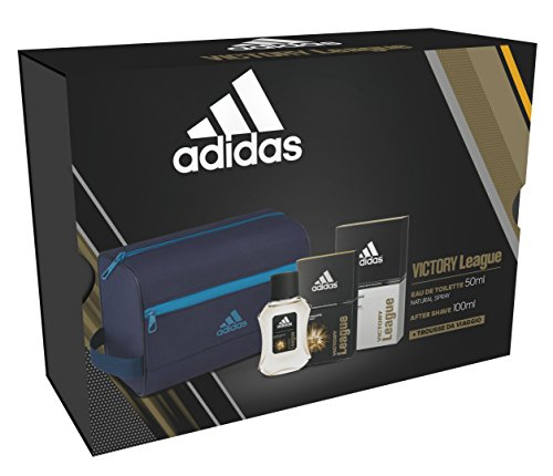 Confezione regalo Adidas victory league edt 50ml + as 100ml + toiletry large