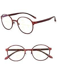 403beb328a KOMNY Gafas de Lectura BLU-Ray Marco Redondo Inteligente Zoom Gafas de  Lectura Femenino lejos y Cerca de Doble Uso Progresivo Multi…