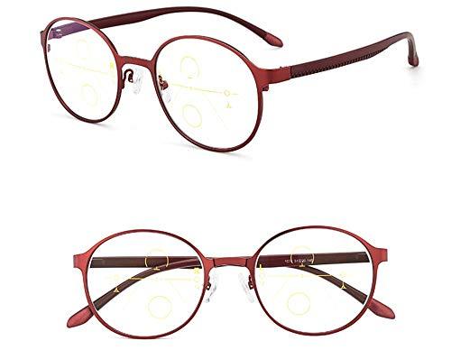 4c54e3e550 KOMNY Gafas de lectura Blu-ray Marco redondo inteligente gafas de lectura  zoom hembra lejos
