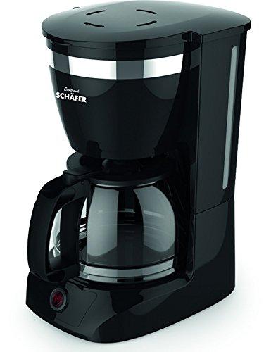 Schäfer Kaffeemaschine - Kaffeeautomat mit Glaskanne und Permanentfilter schwarz