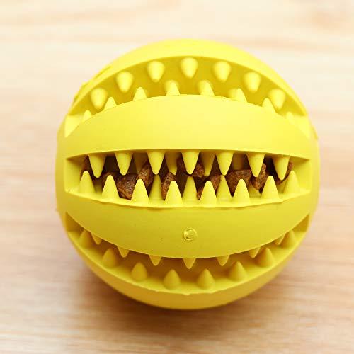 ZUOZUOZUO Hundespielzeug Bissfeste Gummi Molar Stick Gesetz Kämpfen Teddy Als Bär Keji Haustier Klingt Leuchtend Bunten Ball Gelb Φ7Cm -