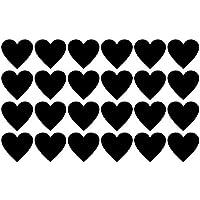Tafelfolie Etiketten Herzen 24 Stück
