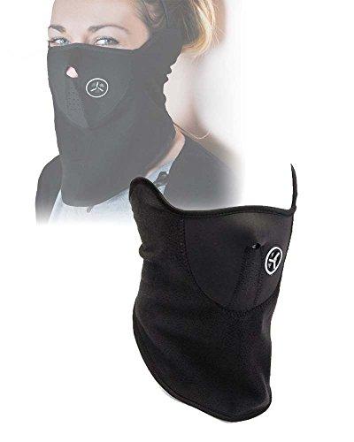 Maschera Antivento e antipolvere in neoprene e pile protezione viso per sci, moto e bici - Kamiustore