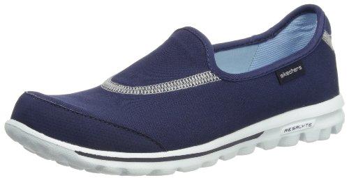 Skechers Damen Go Walk Slipper, Blau (NVY), 35 EU (Skechers Go Walk 2)