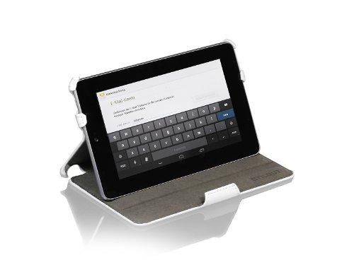 StilGut UltraSlim Case Tasche mit Standfunktion für Google Asus Nexus 7 (8 und 16GB) Sleep & Wake Up Funktion (EIN-& Ausschalten durch Aufklappen der Schutzhülle), weiß