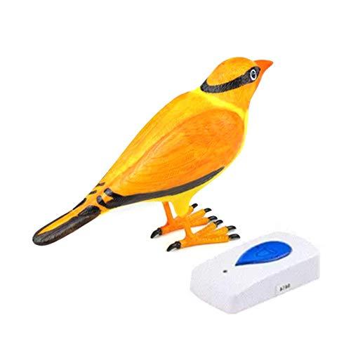 PoeticHouse Türklingel, kabellos, Sirenen, Vogelform Orange