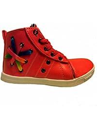 BOOWJESSEA - Zapatillas de Otra Piel para niña, color dorado, talla 42 EU