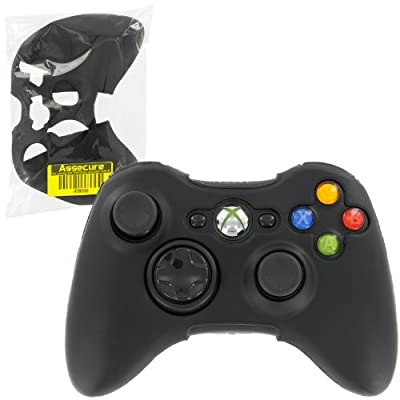 Assecure Silicone Skin Protective Cover Xbox 360 Controller Rubber Bumper Case (Black) by Assecure