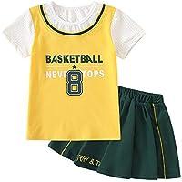 SXFGML Baloncesto Camisetas Costume Traje,Conjunto De Uniforme De Baloncesto para Hombres Y Mujeres Juego De Entrenamiento para Niños Apariencia Jersey,Girls,150cm