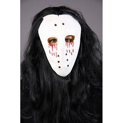 Festartikel Müller Maske mit Haaren blutendes Auge Hockeymaske Halloween