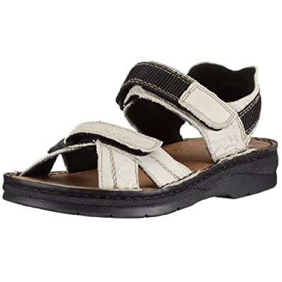 rieker lucy 63551 82 damen sandalen outdoor sandalen schuhe handtaschen. Black Bedroom Furniture Sets. Home Design Ideas