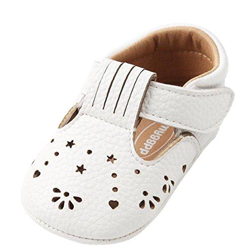 nday Baby Mädchen Prinzessin Leder Schuhe Aushöhlen Mode Kleinkind Erste Wanderer Kind Schuhe (11, Weiß) (Kind Elf Schuhe)
