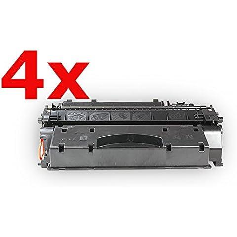 Compatibile per HP LaserJet P 2055 DN Multipack Cartuccia Toner CE505X 05X Nero 4 x 6.500 pagine