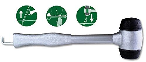 Moscatelli Campinghammer mit Heringsauszieher (Grau Gummi-griff)